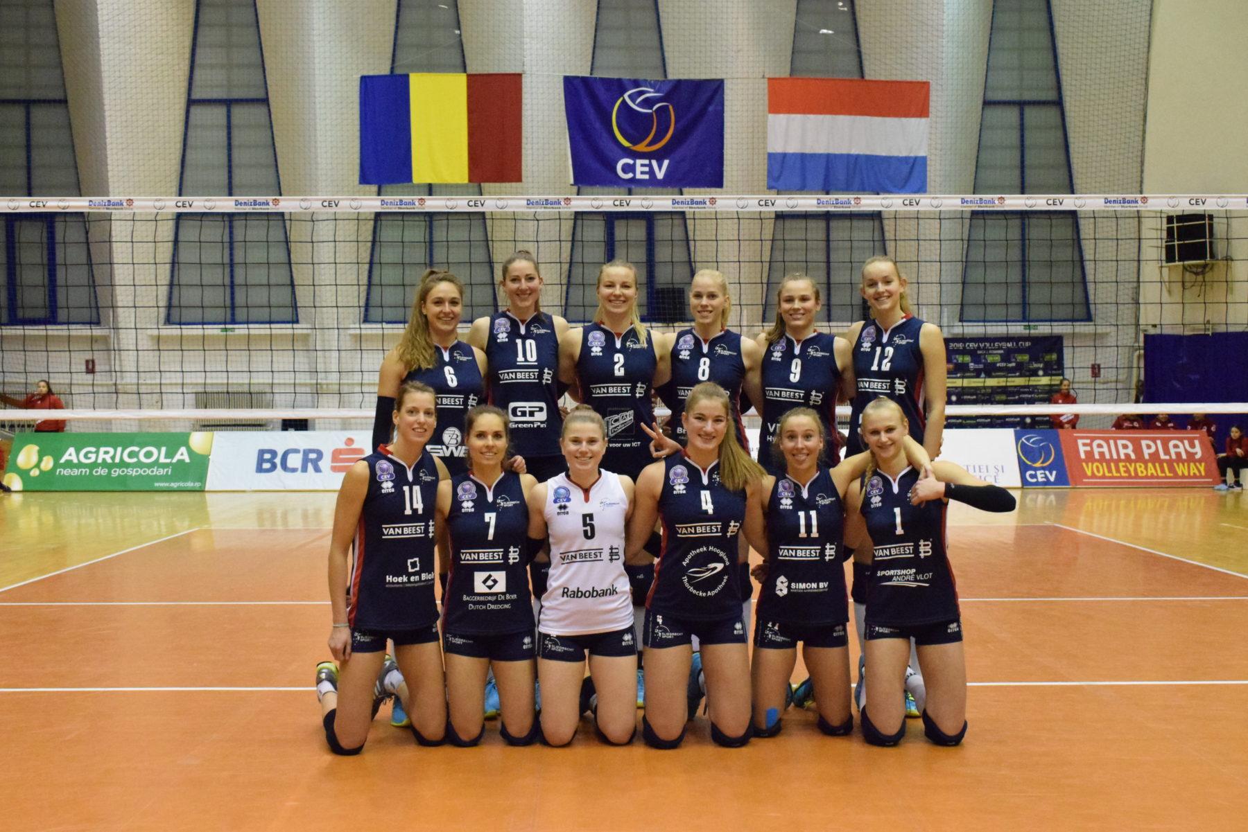 Dames 1 verliest nipt uitwedstrijd Europacup: 3-2