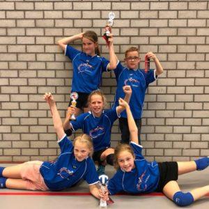 Twee Sliedrechtse bronzen plakken bij nationale volleybalkampioenschappen Basisscholen
