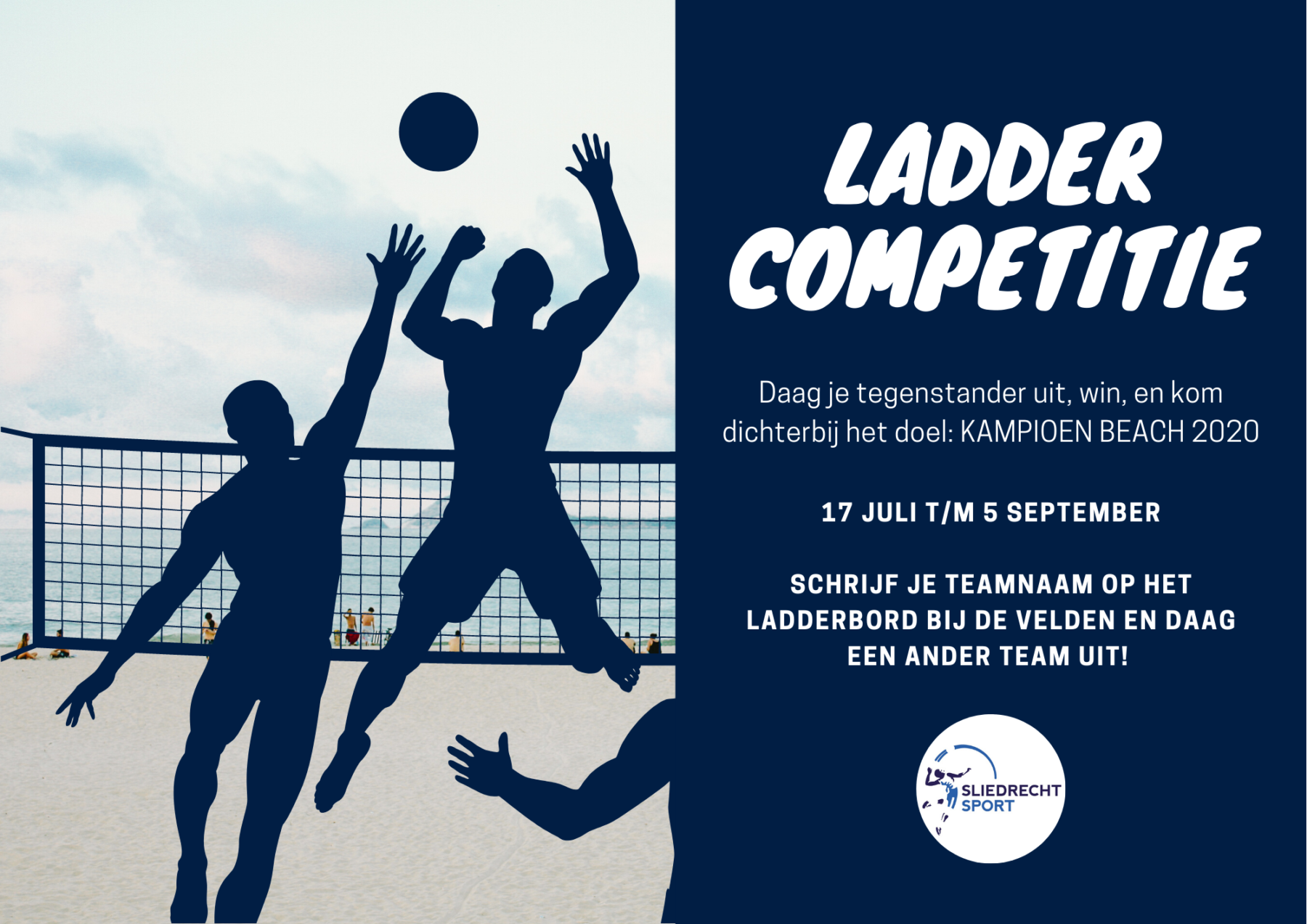 Sliedrecht Sport start Beach Laddercompetitie