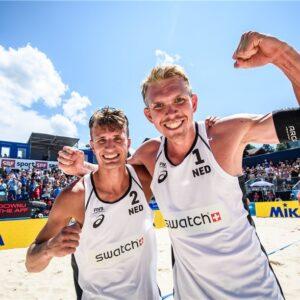 Yorick wint ****beachtoernooi Gstaad. Wow!